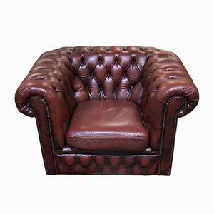Fauteuil Chesterfield Rouge, 1970s