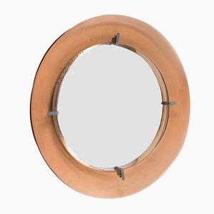Runder Spiegel von Cristal Arte, 1960er