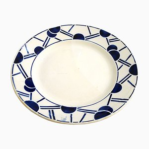 Earthenware Plate from Longwy, 1930s