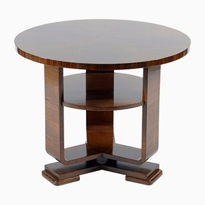 Art Deco Italian Walnut Burl Side Table, 1930s