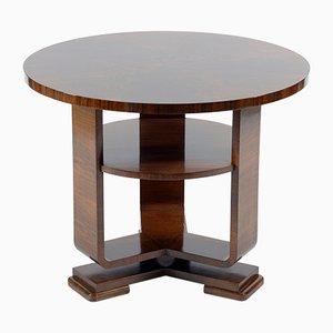 Art Deco Italian Walnut Burl Side Table, 1930s