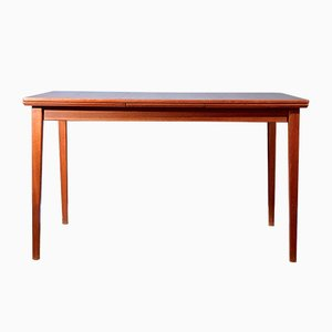 Mid-Century Swedish Extending Teak Table from Hugo Troeds