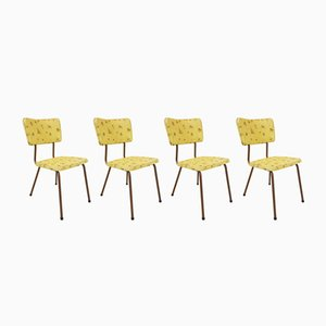 Steel & Vinyl Kitchen Chairs, 1960s, Set of 4