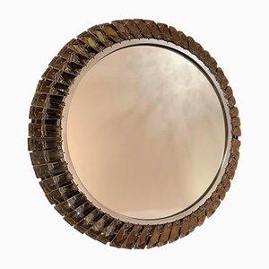 Specchio con cristalli Bakalowits di Palwa, anni '60