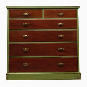 Antique Green Painted Chest of Drawers