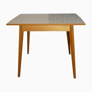 Wood & Formica Kitchen Table, 1950s