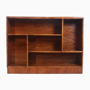 Art Deco Walnut Open Bookcase, 1930s