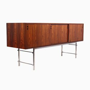 Scandinavian Rosewood Sideboard with Chrome Legs, 1960s