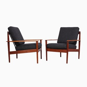 Modell PJ56 Sessel aus Teak von Grete Jalk für Poul Jeppesens Møbelfabrik, 1960er, 2er Set