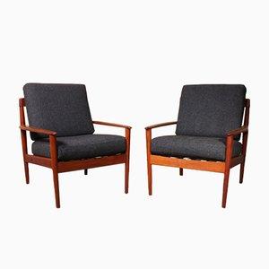 Modell PJ56 Sessel aus Teak von Grete Jalk für Poul Jeppesens Møbelfabrik, 2er Set