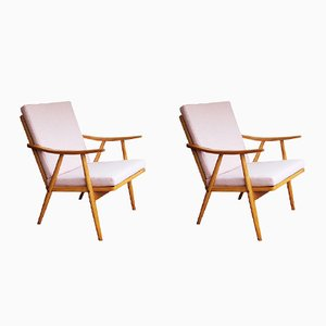 Mid-Century Armchairs from Interier Praha, Set of 2