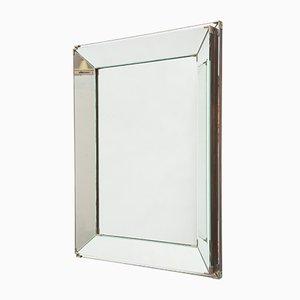 Espejo Art Déco rectangular con dos bandas, 1929