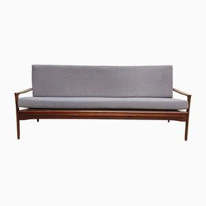 Mid-Century Australian Teak & Linen Sofa, 1960s