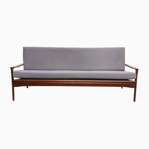 Mid-Century Sofa aus australischem Teak & Leinen, 1960er