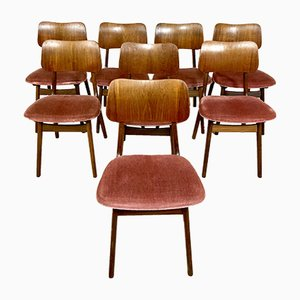 Sedie da pranzo vintage di Arne Hovmand Olsen per Onsild Furniture Factory, anni '60, set di 8
