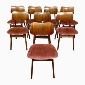 Sillas de comedor vintage de Arne Hovmand Olsen para Onsild Furniture Factory, años 60. Juego de 8