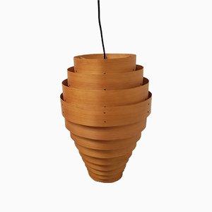 Lampadario in legno di Hans-Agne Jakobsson, anni '60
