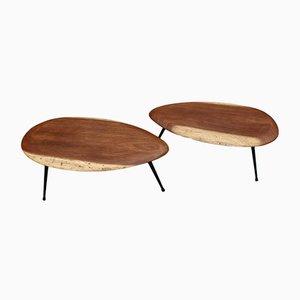Tables Basses Trépied Vintage, 1960s, Set de 2