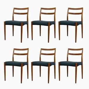 Dänische Vintage Anne Esszimmerstühle aus Teak von Johannes Andersen für Uldum Møbelfabrik, 6er Set