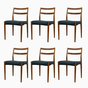 Vintage Danish Teak Anne Dining Chairs by Johannes Andersen for Uldum Møbelfabrik, Set of 6