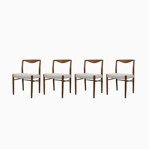 Chaises de Salle à Manger Vintage en Teck par Kai Lyngfeldt Larsen pour Søren Willadsen Møbelfabrik, Danemark, 1960s, Set de 4