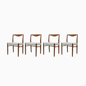 Vintage Danish Teak Dining Chairs by Kai Lyngfeldt Larsen for Søren Willadsen Møbelfabrik, 1960s, Set of 4