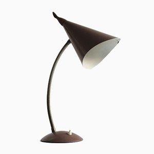 Lámpara de mesa cuello de ganso Mid-Century, años 50
