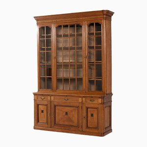 Antique Art Nouveau Oak Library Bookcase by H. Pander & Zonen