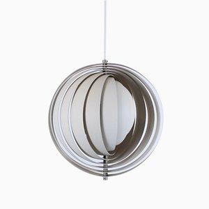 Lampada a sospensione Moon in metallo di Verner Panton per Louis Poulsen, Danimarca, anni '60