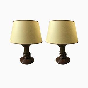 Lámparas de mesa, años 30. Juego de 2