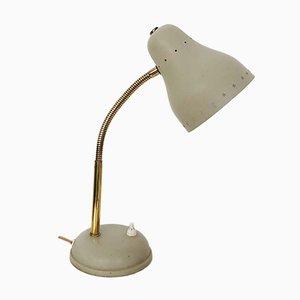 Lámpara de escritorio de metal beige de H. Th. J.A. Busquet para Hala, años 60