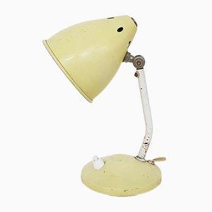 Lámpara de escritorio holandesa Mid-Century pequeña de metal amarillo, años 60
