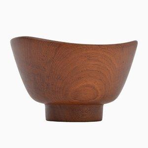 Cuenco danés vintage de madera