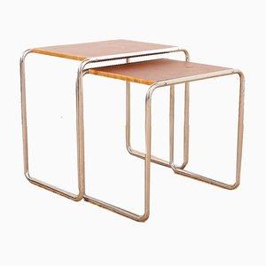 Tavoli ad incastro Bauhaus B9 di Marcel Breuer