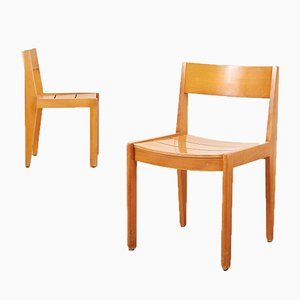 Wooden 266 Chairs by Martha Villiger for Horgenglarus, 1954, Set of 2