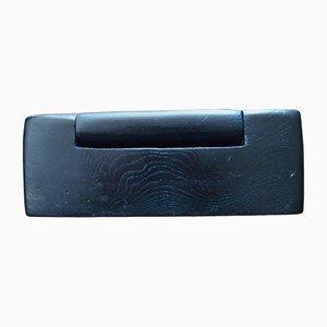 Caja de madera negra, años 50