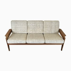 Vintage Teak Three-Seater Sofa by Arne Wahl Iversen for Komfort