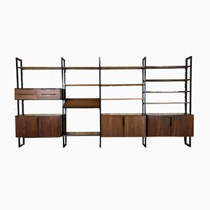 Vintage Finnish Teak Wall Unit by Olli Borg for Asko