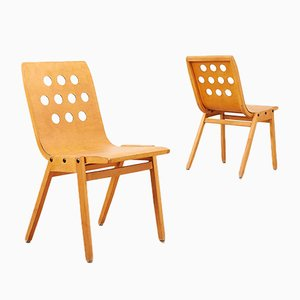 Stadthallenstuhl 3-4-3 Chairs by Roland Rainer for Pollak, 1951, Set of 2