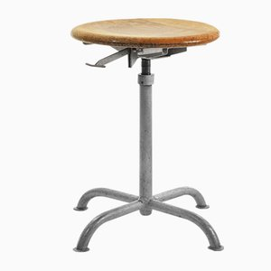 Vintage Industrial Height-Adjustable Stool from Embru, 1950s