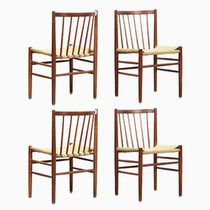 Model J80 Chairs by Jorgen Baekmark for FDB Mobler, 1960s, Set of 4