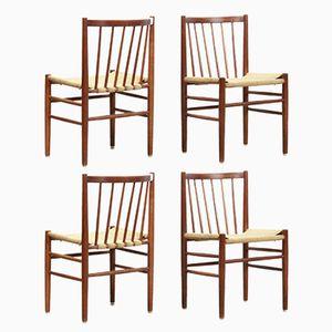Modell J80 Stühle von Jorgen Baekmark für FDB Mobler, 1960er, 4er Set
