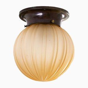 Lámpara de techo sueca de vidrio de Orrefors, años 30