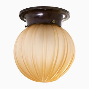 Schwedische Deckenlampe aus Glas von Orrefors, 1930er