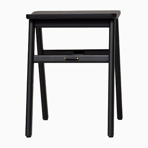 Black-Stained Oak Angle Stool from Form&Refine