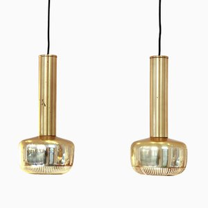 Guldpendel Pendants by Vilhelm Lauritzen for Louis Poulsen, 1960s, Set of 2