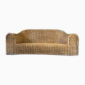 Skulpturales Sofa aus Korbgeflecht, 1970er