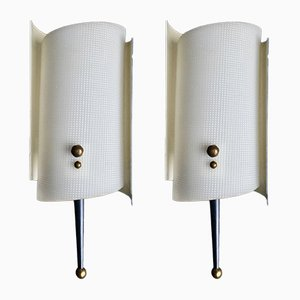 Mid-Century Atomic Sconces, 1950s, Set of 2