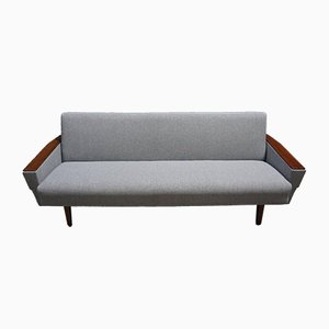 Mid-Century Danish Grey Tweed 3-Seater Sofa, 1960s