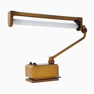 Industrielle Golden Atelier Lamp von Mazda France